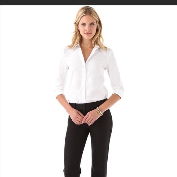 dd0f05fb2 Theory White business women shirt. M_5aac05683a112e5599cc8030